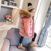 雙十二狂歡 女童棉衣2018新款冬裝大毛領加厚棉襖中長款外套冬季兒童羽絨棉服 挪威森林
