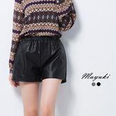 東京著衣-鬆緊皮革口袋短褲-S.M.L(6021967)