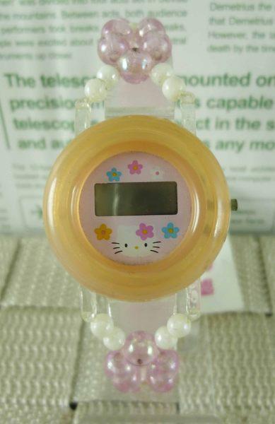 【震撼精品百貨】Hello Kitty 凱蒂貓-手錶-粉珠【共1款】