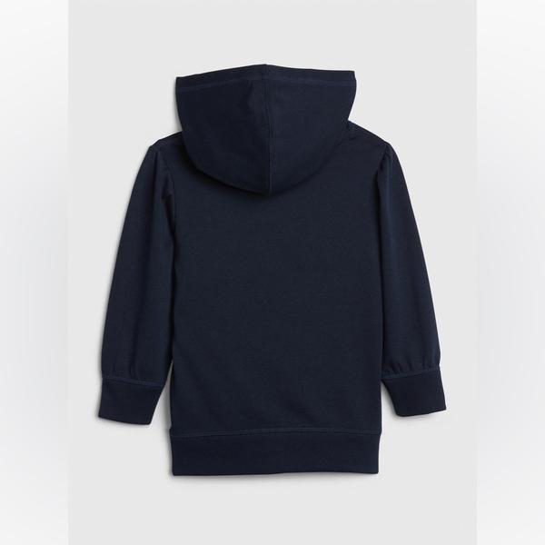 Gap女幼童 Logo時尚撞色連帽上衣 540086-藏青色