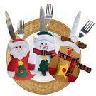 【BlueCat】聖誕節圍巾雪人麋鹿刀叉袋/餐具套/裝飾