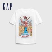 Gap男童海綿寶寶印花圓領短袖T恤574885-米白