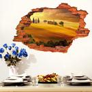 【沙漠村莊牆貼】60x90創意3D立體視覺無痕貼紙 家居客廳玄關浴室地面牆壁貼 防水裝飾地板貼