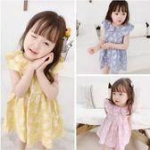 兒童洋裝 夏款大翻領洋裝