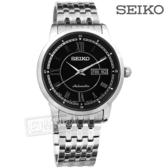 SEIKO 精工 / 4R36-00Y0D.SRP259J1 / 機械上鍊 羅馬時標 不鏽鋼手錶 黑色 39mm