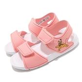 adidas 涼拖鞋 Altaswim I 粉 白 童鞋 小童鞋 迪士尼 布魯托 魔鬼氈 運動涼鞋 【ACS】 FX4362