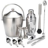 全館83折奶茶專用工具器具十件套裝pc雪克壺搖杯盎司杯調酒器吧勺量杯