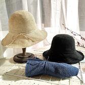 店長推薦細鉤針遮陽帽子女夏漁夫帽防曬草帽可折疊出游沙灘帽手工編織盆帽