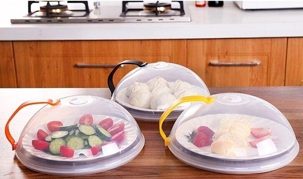 保鮮蓋 防油蓋 飯菜罩 可微波 可掛式 手柄 防護罩 碗蓋 防油 可提式圓形保鮮罩【L084】慢思行