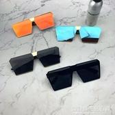 新款韓版墨鏡抖音快手網紅方形眼鏡女顯瘦炫彩偏光鏡男開車潮 設計師生活百貨