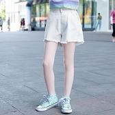 女童牛仔短褲 女童短褲夏季薄款兒童洋氣百搭外穿白色薄款牛仔褲中大童褲子-Ballet朵朵