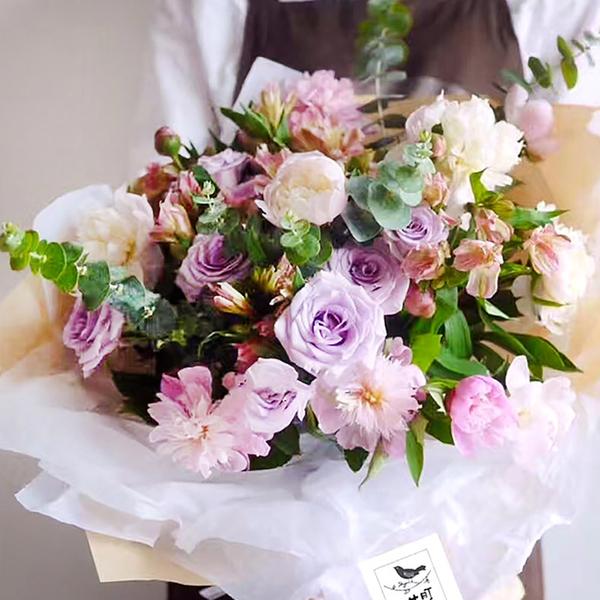1張 雪梨紙 花束打底皺褶紙 花束包裝紙 畢業花束 母親節花束 捧花求婚花束 乾燥花束 鮮花花束