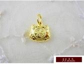 9999純金 黃金 墜飾 黃金福袋  (黃金滿滿. 福氣滿滿) 墜子 送精緻皮繩項鍊