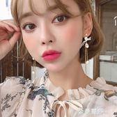耳釘純銀女氣質韓國個性簡約百搭長款流蘇耳環網紅耳墜耳飾防過敏 金曼麗莎