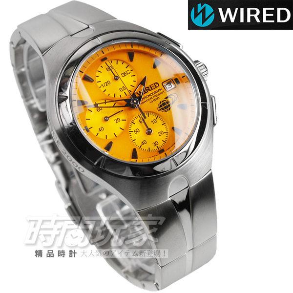 WIRED 15週年 41mm 男錶 黃橘面 AF8U27X1 7T92-0TB0O 防水手錶