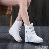 漢靴  秋冬古風鞋子漢服配鞋女復古單靴短靴弓鞋冬季加棉圓頭內增 宜室家居