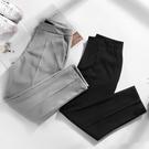 西裝褲 夏季薄款墜感寬鬆西裝褲女高腰垂感直筒顯瘦九分寬管褲小腳哈倫褲 雙12