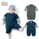 母嬰同室 日本男寶超帥氣造型連身衣 兔裝 假二件嬰兒服 (50-60碼)【GD0091】