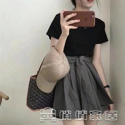 時尚套裝 2021夏裝新款韓版網紅短裙兩件套法國小眾復古洋氣減齡俏皮套裝女 16【免運快出】