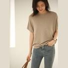 簡約氣質冰絲短袖針織衫針織上衣韓版【80-14-8F6816-21】ibella 艾貝拉