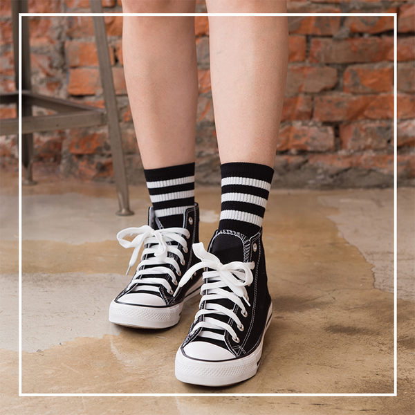 Melek 襪子類 (共4色)【P08160822-0104~07】女中筒襪三條款 長襪/足球襪