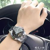 賓卡達手錶男士全自動機械錶商務夜光防水時尚鏤空精鋼男錶 晴光小語