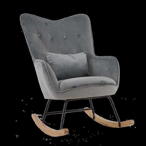 搖椅 【新北現貨】寶石藍24H快出北歐搖椅沙發躺椅逍遙椅老人椅臥室陽台休閒椅午睡椅懶人椅