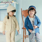 連帽外套 保暖外套 空氣棉 壓紋 男寶寶 女寶寶 Augelute 47027
