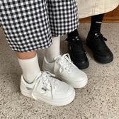 厚底鞋 @許劉芒 秋季日系人氣可愛風圓頭厚底休閒鞋學生百搭小白鞋女交換禮物