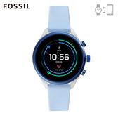 FOSSIL SPORT 運動智能錶 - 41MM 天藍色矽膠