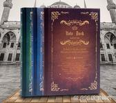 筆記本子韓版硬皮筆記本小清新記事本筆記本隨身簡約創意復古歐式     琉璃美衣