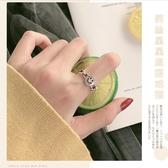 星星笑臉戒指女純銀時尚個性ins潮小眾設計食指高級感冷淡風指環