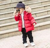 新款冬裝嬰幼兒男童女童小寶寶2周歲3兒童棉衣加厚中長款毛領棉服