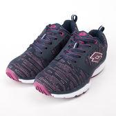 Lotto  女 EASY WALK 美體 健走鞋-深藍/紫紅 LT9AWX0676