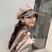 貝雷帽 女秋冬帽子小香風英倫復古時尚韓版潮INS百搭日系八角帽
