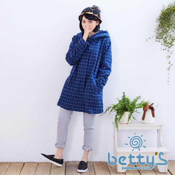 betty's貝蒂思 格子連帽大衣(藍色)
