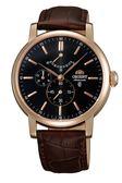 ORIENT 東方錶 獨立秒盤藍寶石動能顯示機械錶 玫瑰金 FEZ09001B