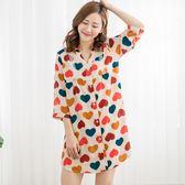 春暖花開襯衫式洋裝睡衣(6色)