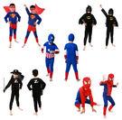 變裝 親子同樂 超人/蜘蛛人/蝙蝠俠/美國隊長(多件組) 萬聖節服裝 聖誕節  兒童變裝【塔克】