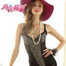 內衣頻道♥7908 台灣製 重機能 腹部雙層布料提拉 馬甲式性感豹紋 胸罩束腹衣-B.C罩杯皆適合