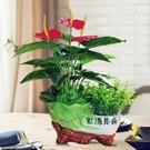 假花仿真花 仿真綠植物盆栽塑料仿真花假花擺設家居客廳電視柜茶幾裝飾品擺件 優拓
