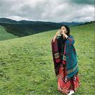 女士圍巾秋冬季 西藏加厚保暖斗篷民族風披...