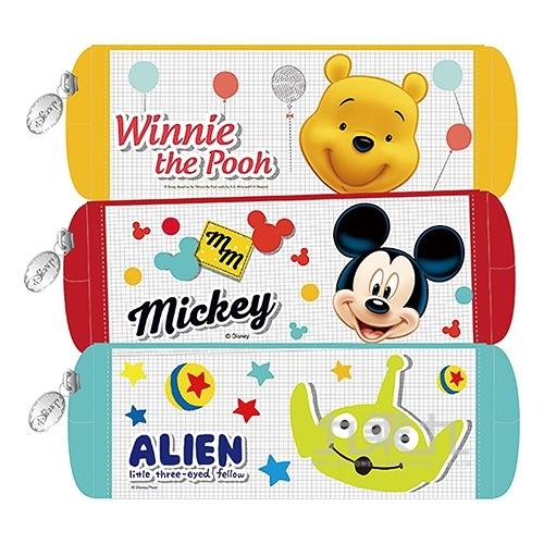 迪士尼(經典系)網格中方形筆袋(款式隨機出貨)