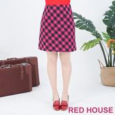 【RED HOUSE 蕾赫斯】經典格紋裙(共2色)