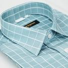 【金‧安德森】綠白線格窄版長袖襯衫