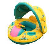 泳圈 寶寶充氣游泳圈0-1-3-5歲小孩新生幼兒童泳圈遮陽蓬坐圈坐艇 全網最低價最後兩天