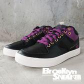 PONY Atop 黑紫 皮革 網布 金屬鞋孔 滑板鞋 女 (布魯克林) 2018/10月 83W1AT01BK