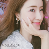 《Caroline》★韓國熱賣造型時尚   閃人耀眼水鑽夾式耳環70803