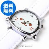 [PET PARADISE] 日本Sirotan 小白太郎 小海豹  滿版小海豹手錶-皮革錶帶-白色