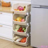 果蔬收納筐廚房蔬菜置物架落地多層菜筐廚房用品儲物架菜架子菜籃